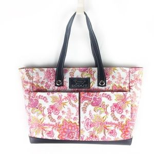 SCOUT | tote Uptown Girl floral pink green